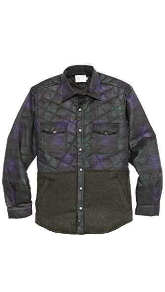 Shades of Grey by Micah Cohen Quilted Shirt Jacket