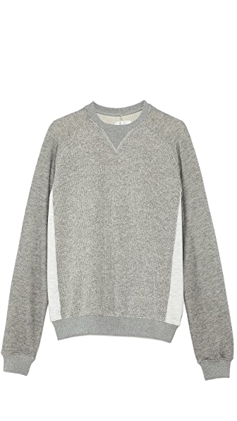 Shades of Grey by Micah Cohen Contrast Panel Crew Neck Sweatshirt
