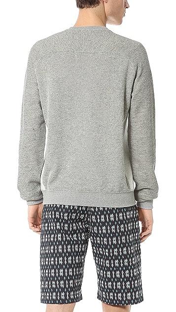 Shades of Grey by Micah Cohen Contrast Panel Crew Neck Sweatshirt