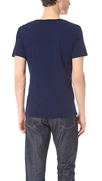 Shades of Grey by Micah Cohen Low Crew Neck Tee