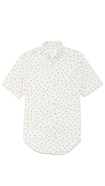 Shades of Grey by Micah Cohen Snowflake Button Down Shirt