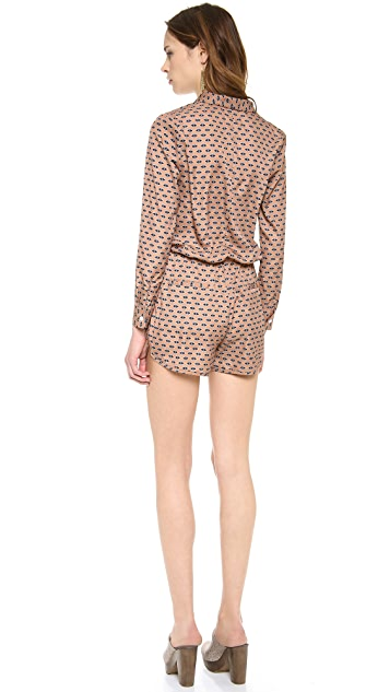 Shades of Grey by Micah Cohen Long Sleeve Romper