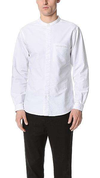Shades of Grey by Micah Cohen Band Collar Shirt