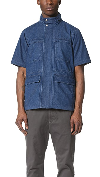 Shades of Grey by Micah Cohen Short Sleeve Safari Jacket