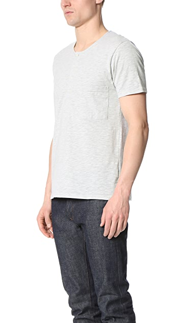 Shades of Grey by Micah Cohen Short Sleeve Henley