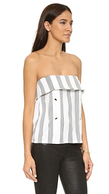 Shades of Grey by Micah Cohen Strapless Envelope Top