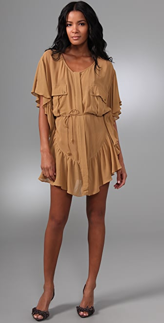 Shakuhachi Day Tripper Frill Cape Dress