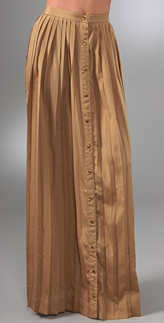 Shakuhachi Pleats Please Long Skirt