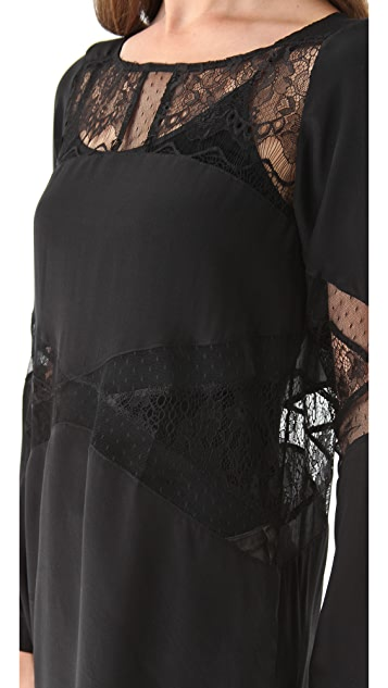 Shakuhachi Lace Panel Tunic