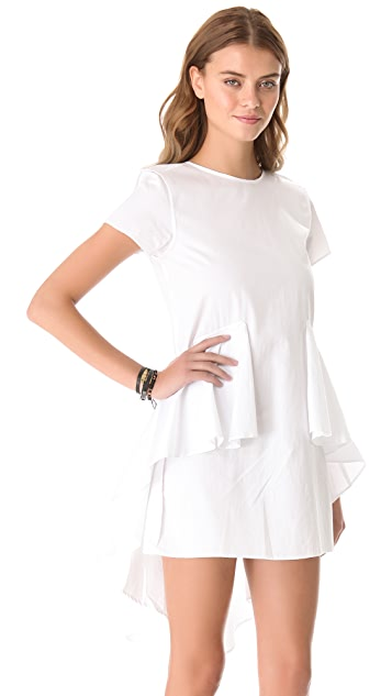 Shakuhachi Draped Peplum Dress
