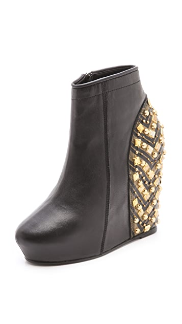 Shakuhachi Harlequin Wedge Booties