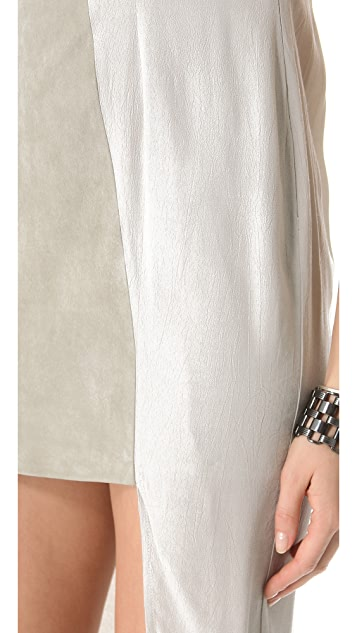 Shakuhachi Luxe Utility Dress with Suede