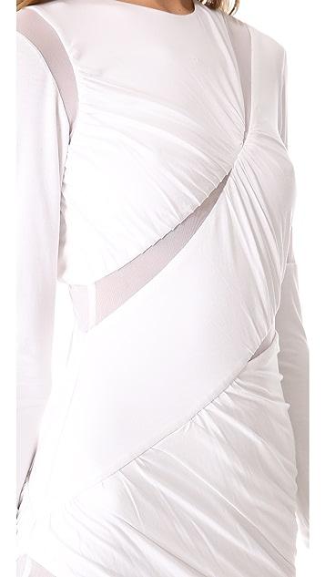 Shakuhachi Mesh Cutout Dress