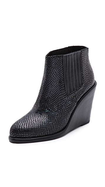 Shakuhachi Hologram Ankle Booties