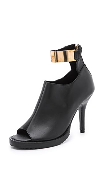 Shakuhachi Metal Ankle Booties