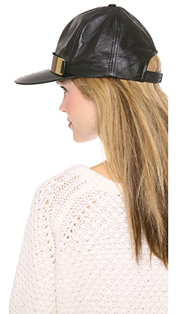 Shakuhachi Leather Baseball Hat