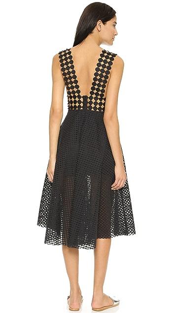 Shakuhachi Wonderland Lace Midi Dress