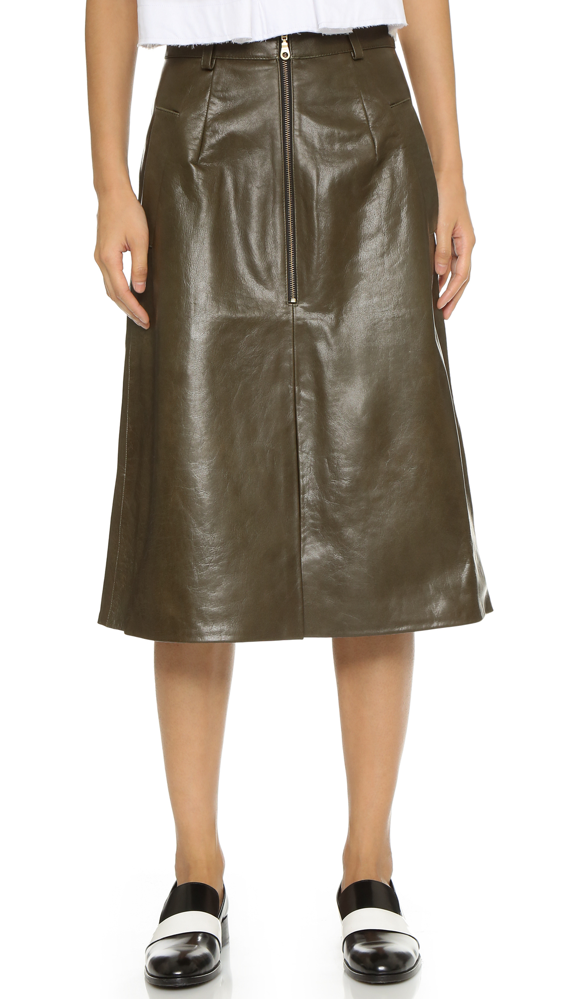 Shakuhachi A Line Leather Skirt | SHOPBOP Extra 25% Off Sale ...