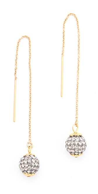 Shashi Pave Chain Earrings