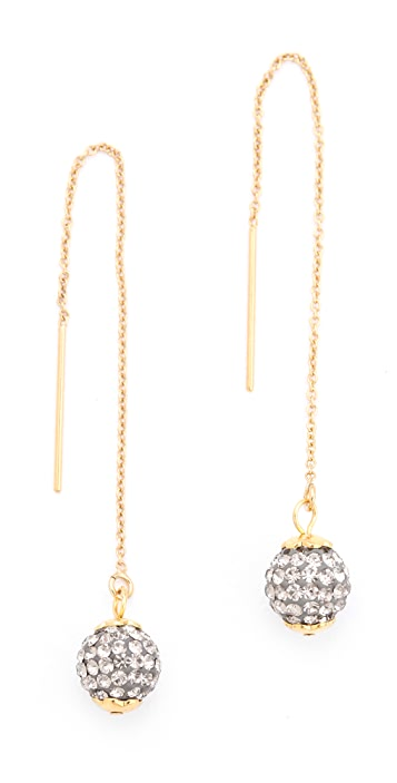 Shashi Pave Chain Earrings