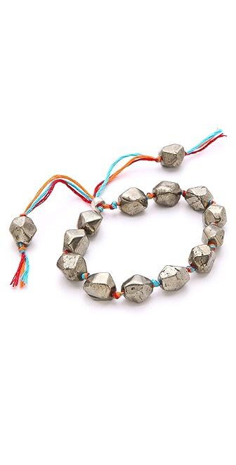 Shashi Rosanna Pyrite Bracelet