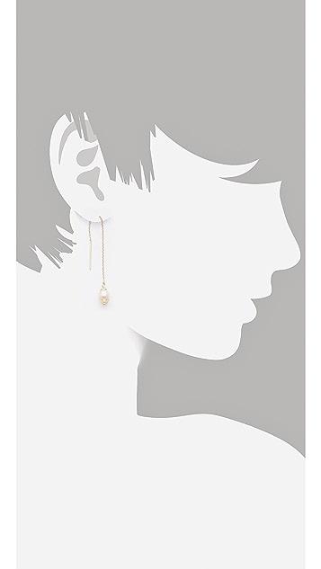 Shashi Pearl Drop Thread Earrings