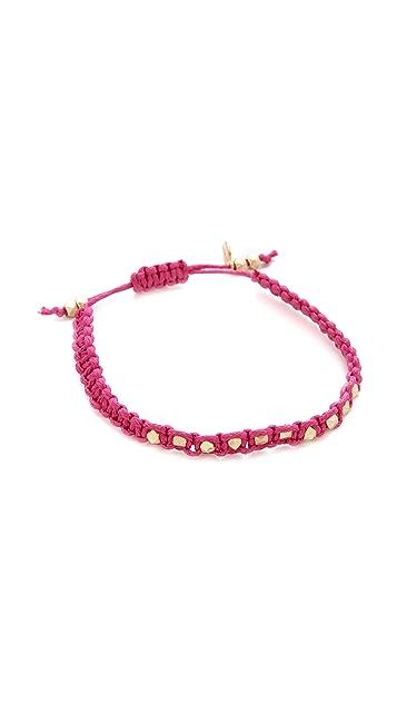 Shashi Sarah Yellow Nugget Bracelet
