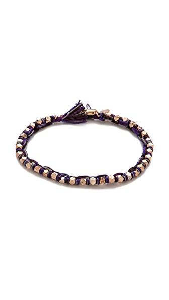 Shashi Silk Nugget Clasp Bracelet
