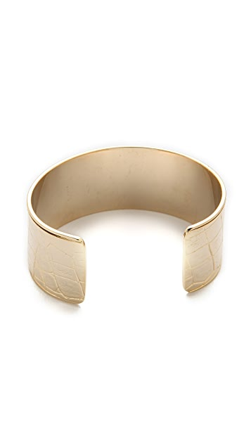 Shashi Crocodile Cuff Bracelet