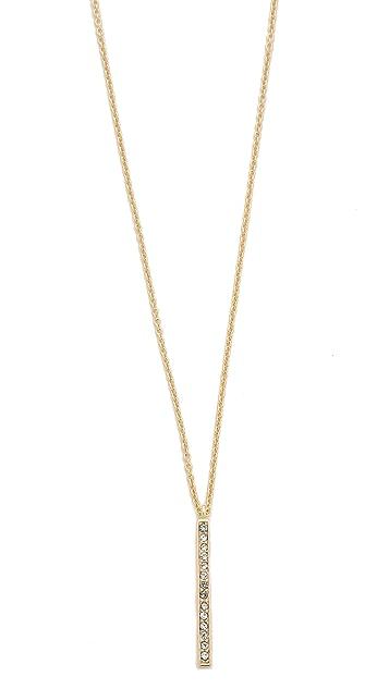 Shashi Tracy Long Bar Necklace