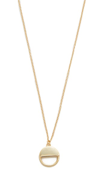 Shashi Half Circle Pendant Necklace