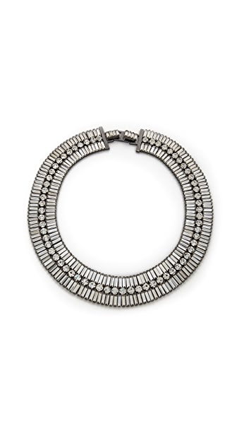 Shay Bauguette & Circle Crystal Necklace