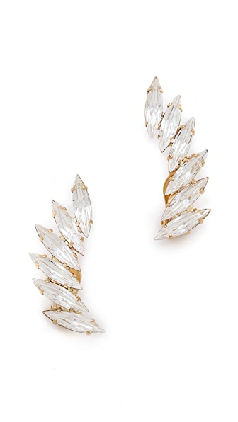 Shay Accessories Crystal Clip On Ear Crawlers