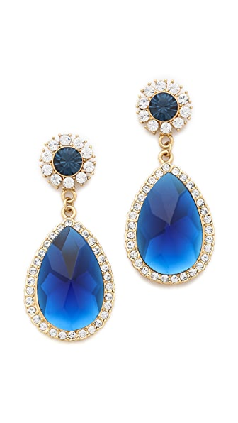 Shay Teardrop Crystal Border Earrings