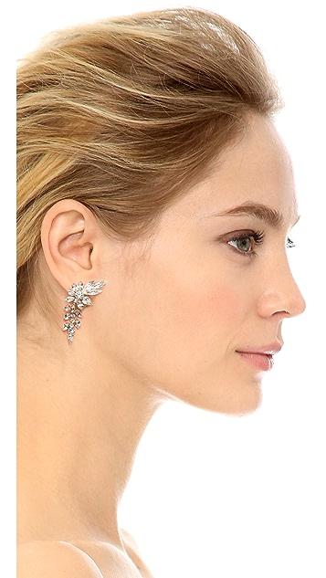 Shay Clip On Drop Flower Earrings