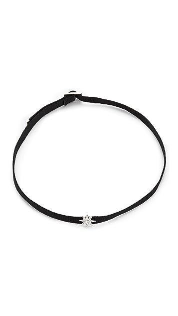 Shay 14k White Gold Mini Starburst Choker Necklace