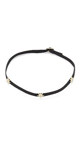 Shay Three Diamond Star Choker Necklace