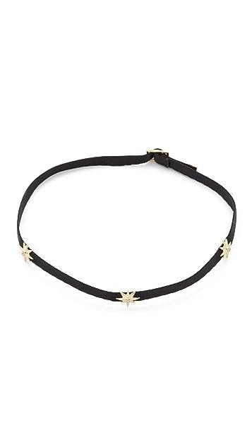 Shay 14k Gold Three Diamond Star Choker Necklace