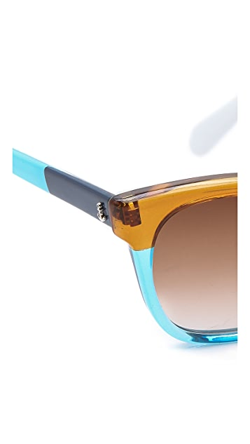 Sheriff&Cherry Colorblock Sunglasses