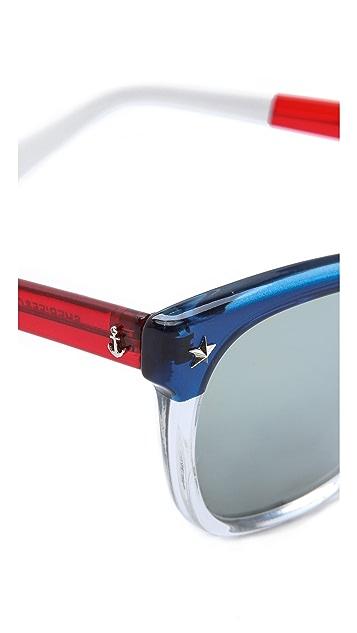 Sheriff&Cherry Americana Mirrored Sunglasses