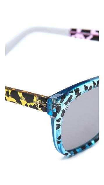 Sheriff&Cherry Tritone Wild Cat Sunglasses