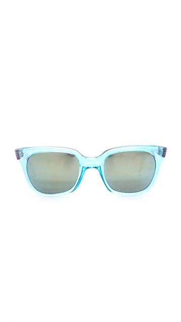 Sheriff&Cherry Colorblock Mirrored Sunglasses