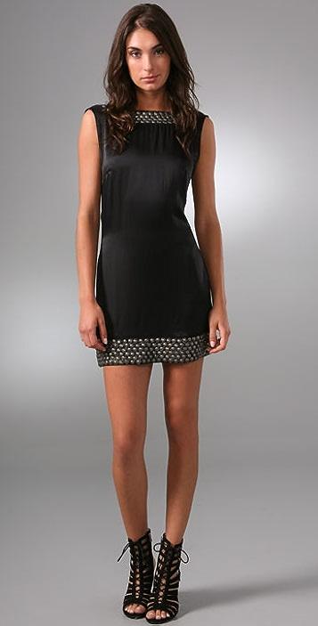 Sheri Bodell Metal Beaded Low Back Dress
