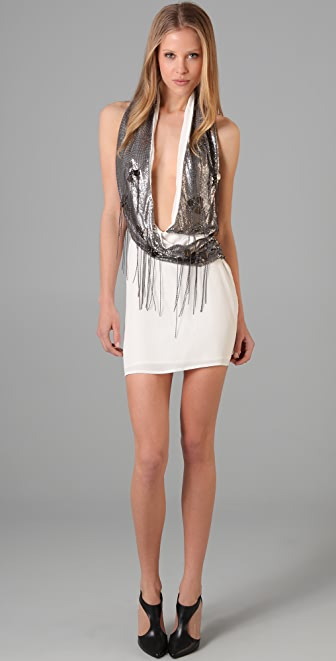 Sheri Bodell Wrap Halter Mini Dress