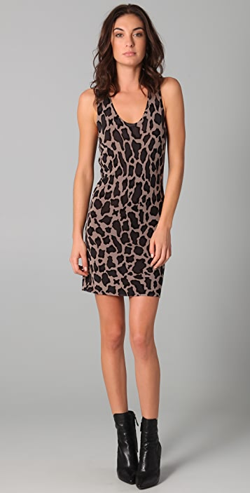 Sheri Bodell Leopard Racer Back Dress