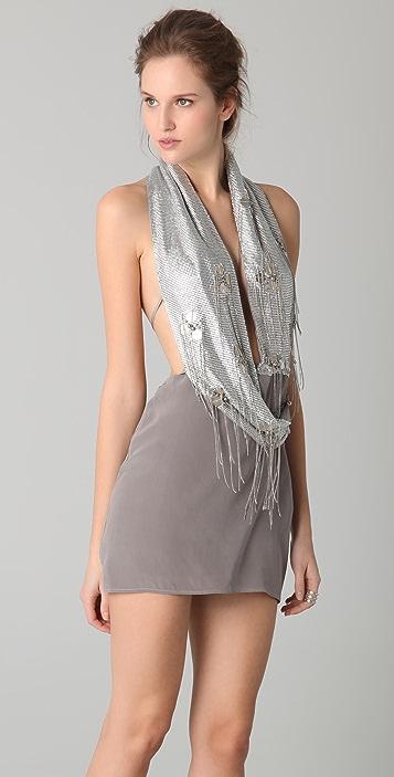 Sheri Bodell Wrap Halter Dress