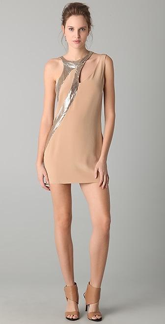Sheri Bodell Metal Mesh Applique Dress