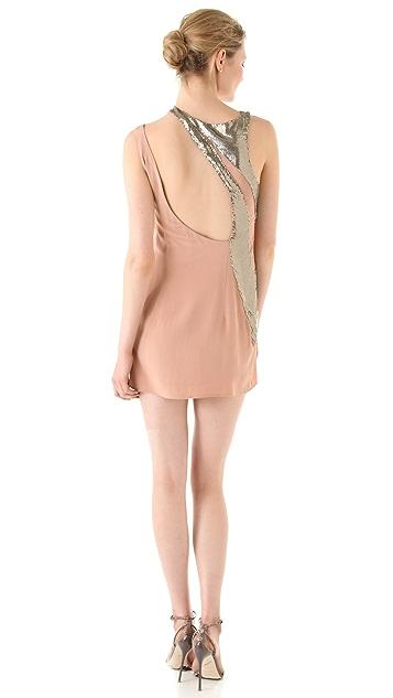 Sheri Bodell Metal Mesh Asymmetrical Dress