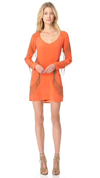 Sheri Bodell Chain Fringe Mini Dress