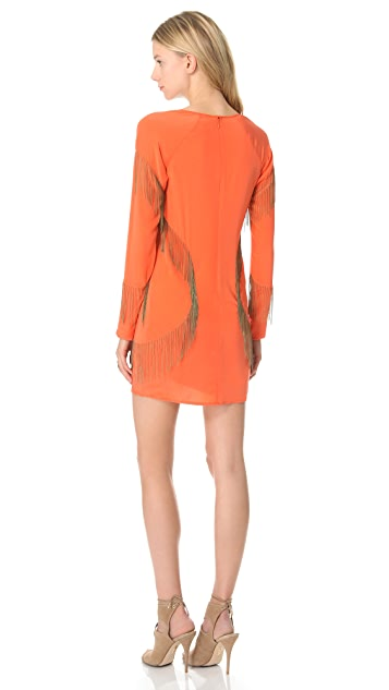 Sheri Bodell Chain Fringe Mini Dress